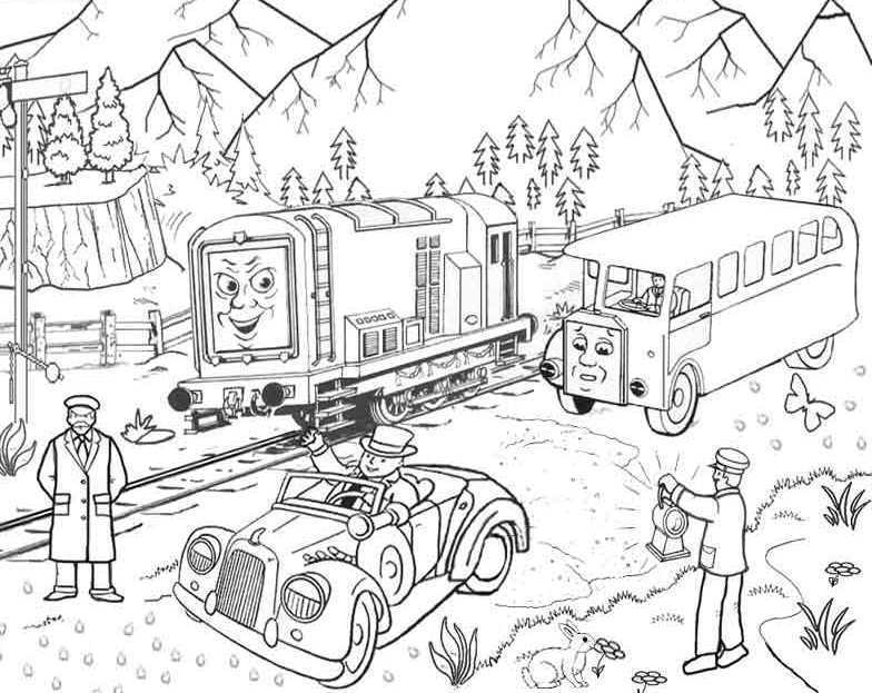 784x623 Thomas And Friends Coloring Page