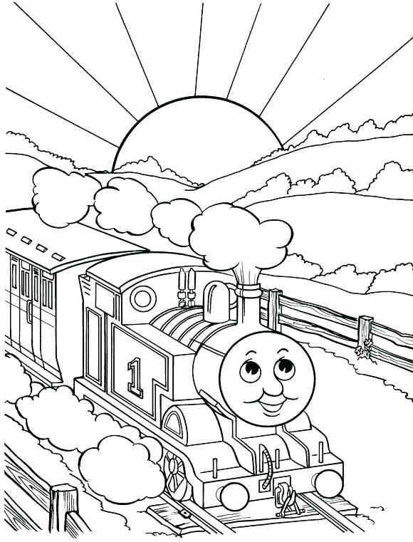 580x761 Thomas The Tank Engine Coloring Book Together With Train Coloring