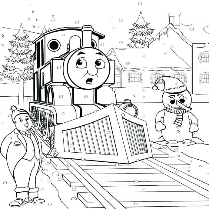 690x690 Thomas The Tank Engine Colouring Pages Gordon Train Printable