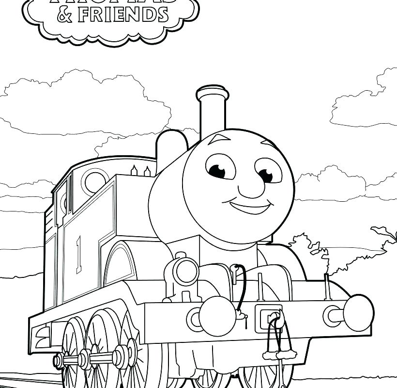 820x800 Thomas The Train And Friends Printable Coloring Pages Free Books