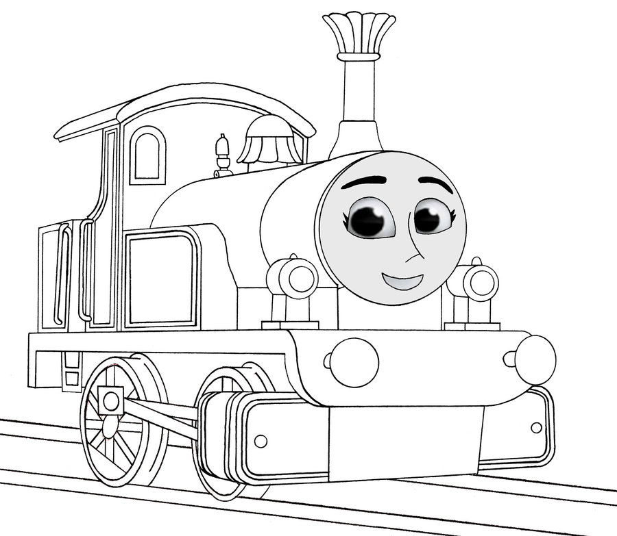 900x783 Thomas The Tank Engine Coloring Pages