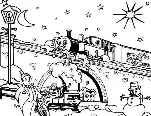 518x400 Thomas And Terence Passing Through The Snowy Day Christmas