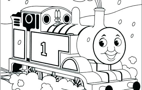 470x300 Thomas The Train Coloring Pages Printable Train Coloring Pages
