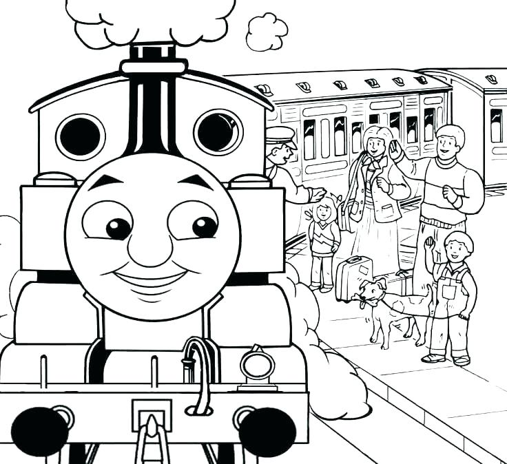 736x674 Thomas The Train Coloring Pages The Train Coloring Pages Train