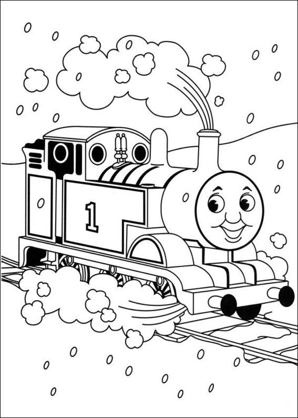 600x840 Thomas The Tank Engine Coloring Pages