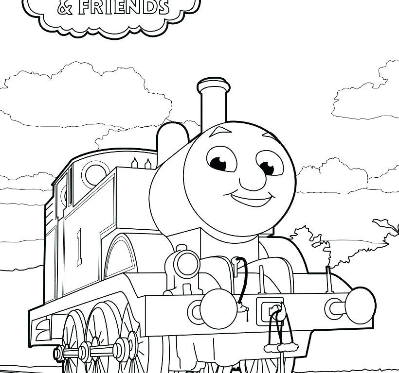 820x768 Thomas And Friends Coloring Page Vanda