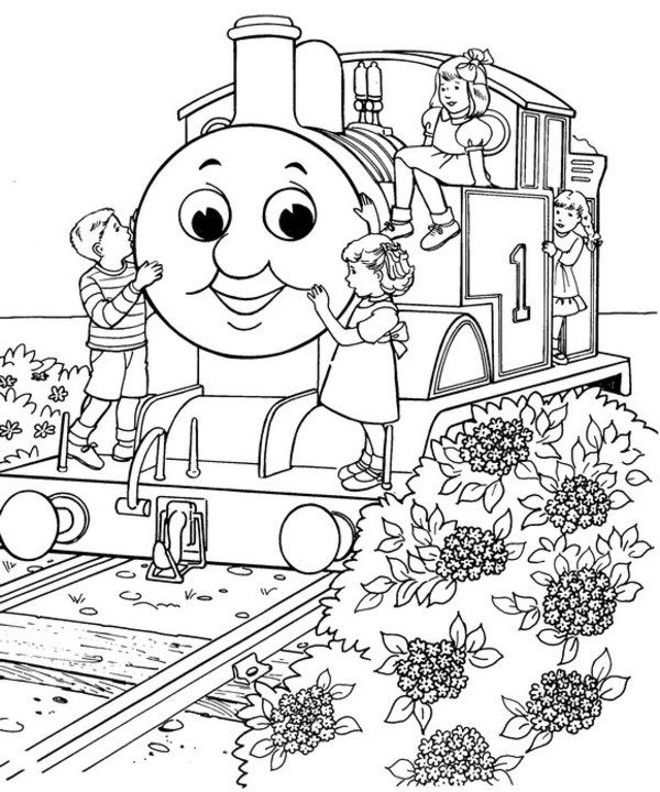 600x720 Train Coloring Pages Free Thomas The Train Coloring Pages
