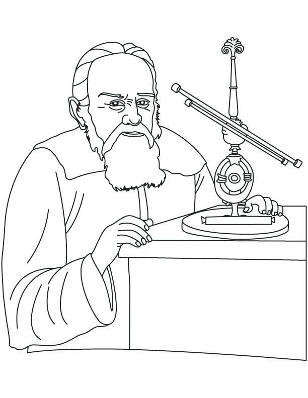 Thomas Edison Coloring Pages