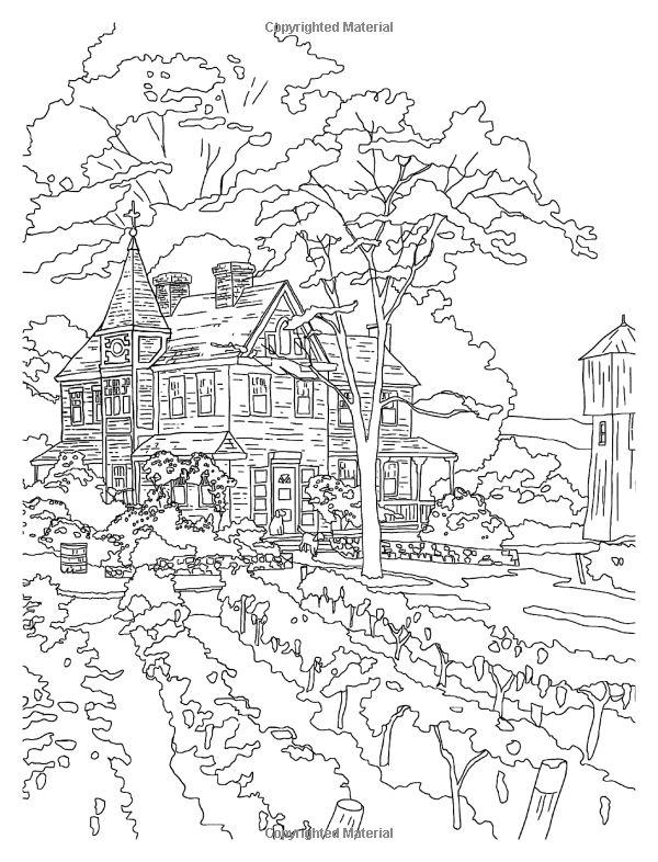 Thomas Kinkade Coloring Pages