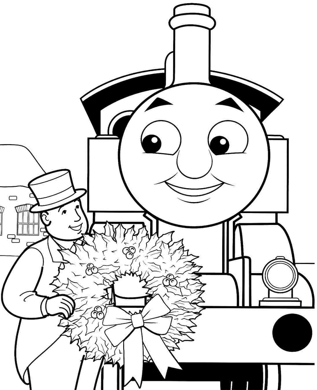 1096x1347 Thomas And Friends Coloring Pages For Christmas