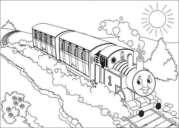 600x428 Thomas Tank Engine Coloring Pages