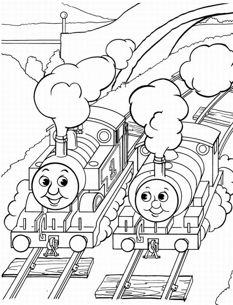 766x1000 Thomas The Train And Friends Coloring Pages Cartoon Coloring