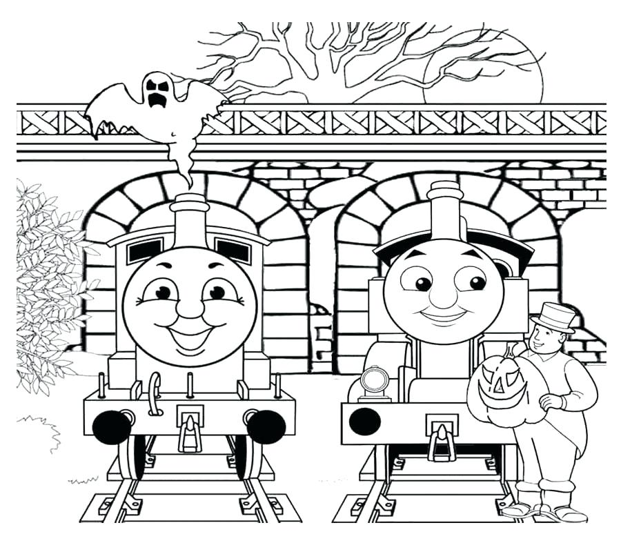 900x787 Thomas The Train Halloween Coloring Pages Two Person Chat