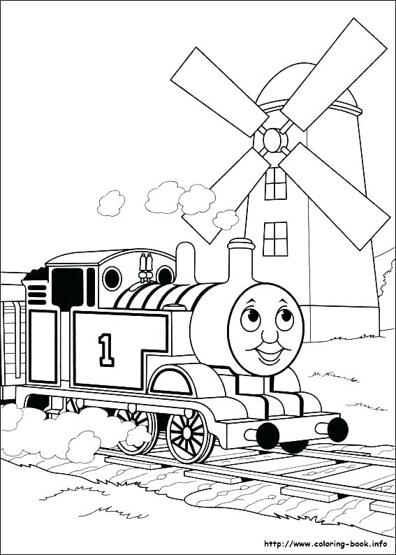 567x794 Thomas Coloring Pages Free