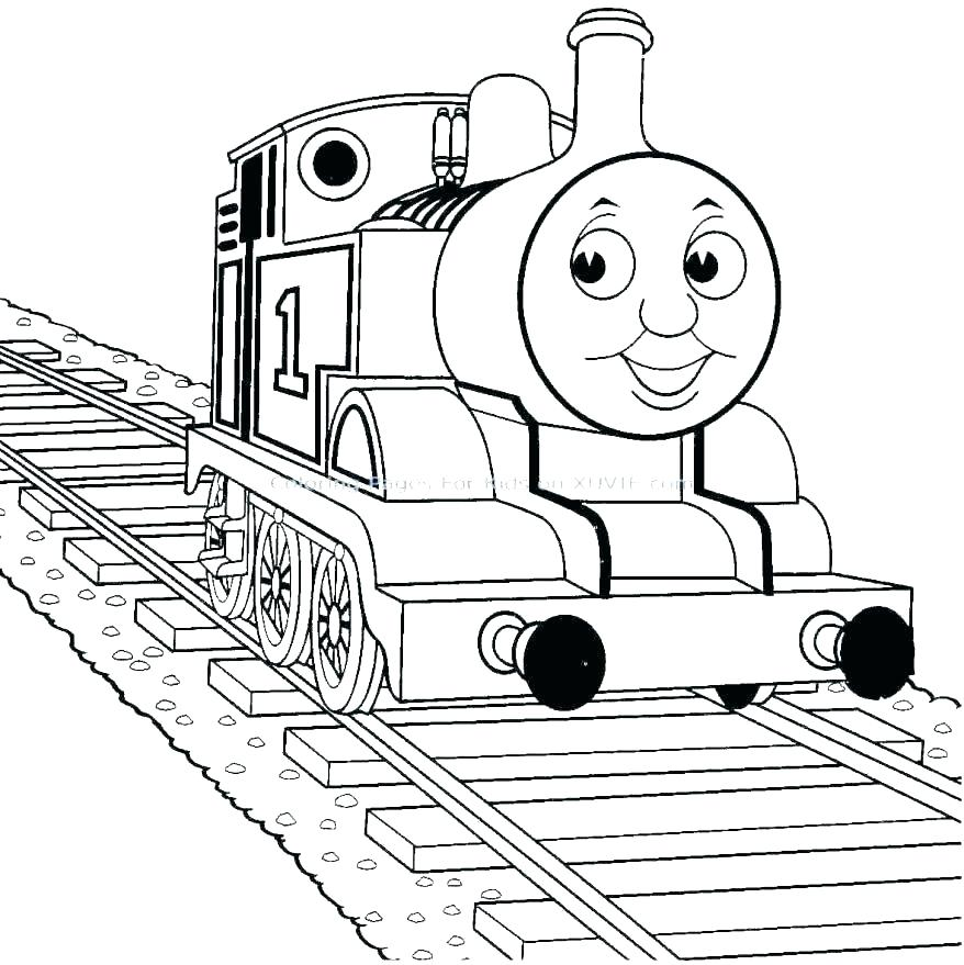 878x879 Thomas The Tank Engine And Friends Colouring Pages