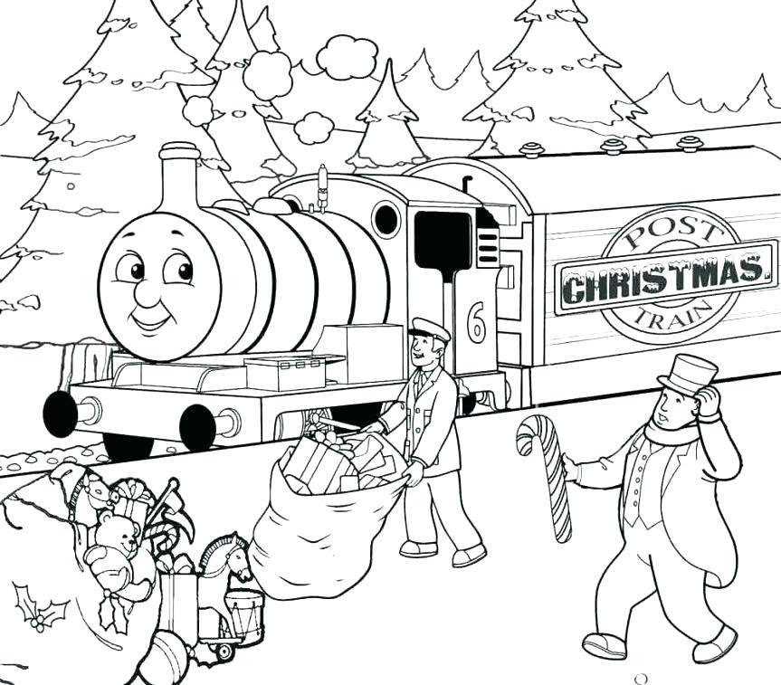 863x757 Thomas Train Coloring Page