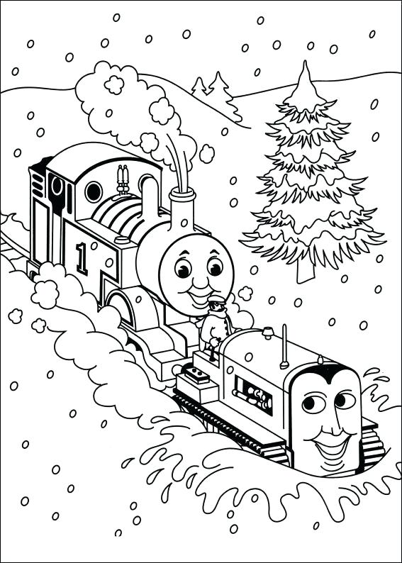 567x794 Coloring Pages Thomasnd Friends Coloring Pages Through Snow