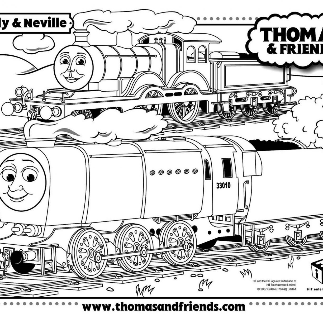 1224x1224 Gordon Thomas Friends Coloring Pages Hellokids And General Emily
