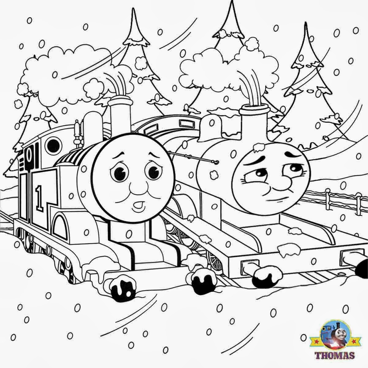 1200x1200 Awesome Color Thomas The Train Coloring Pages Vehicle Coloring Page