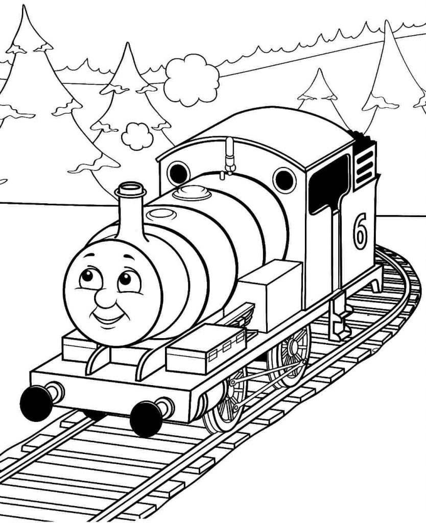 834x1024 Thomas Percy Train With Tree Coloring Pages