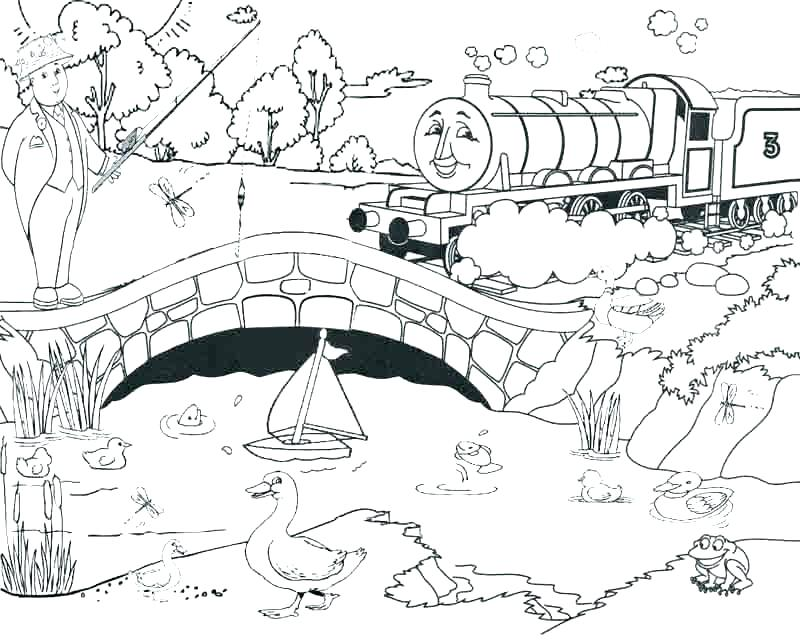 800x640 Thomas The Train Christmas Coloring Pages Thomas Train Coloring