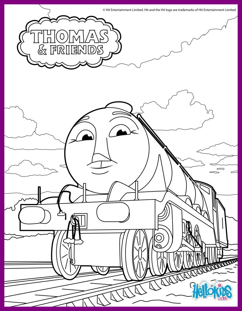 850x1090 Awesome Printable Thomas Coloring Pages For Kids Image
