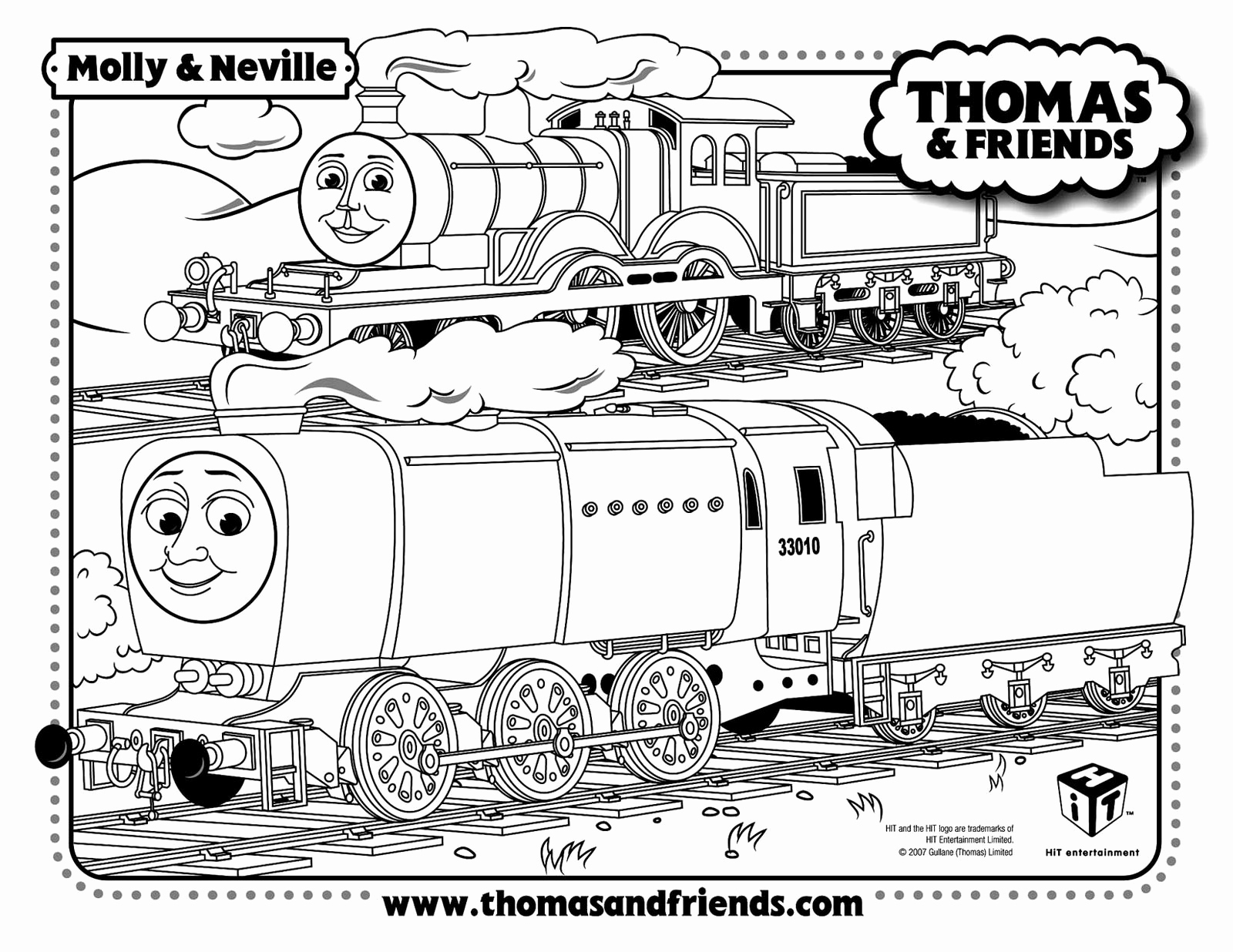 1600x1236 Thomas The Train Christmas Coloring Pages
