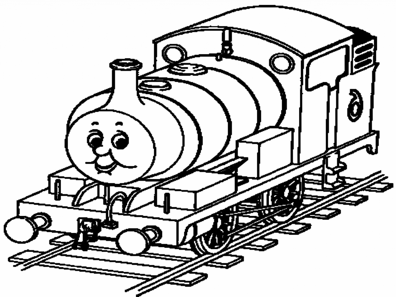 1280x960 Train Coloring Christmas Sheets For Thomas Pages