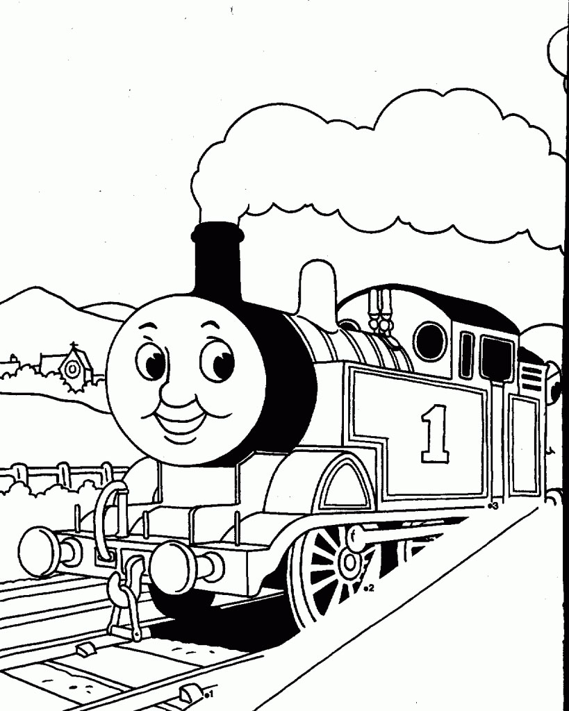 819x1024 Train Coloring Pages For Free Download, Thomas The Train Christmas