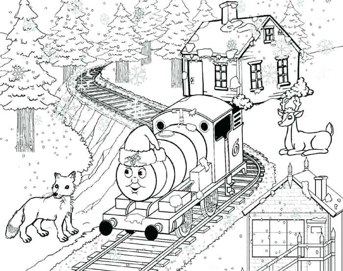 700x554 Thomas The Train Christmas Coloring Pages Fuhrer Von
