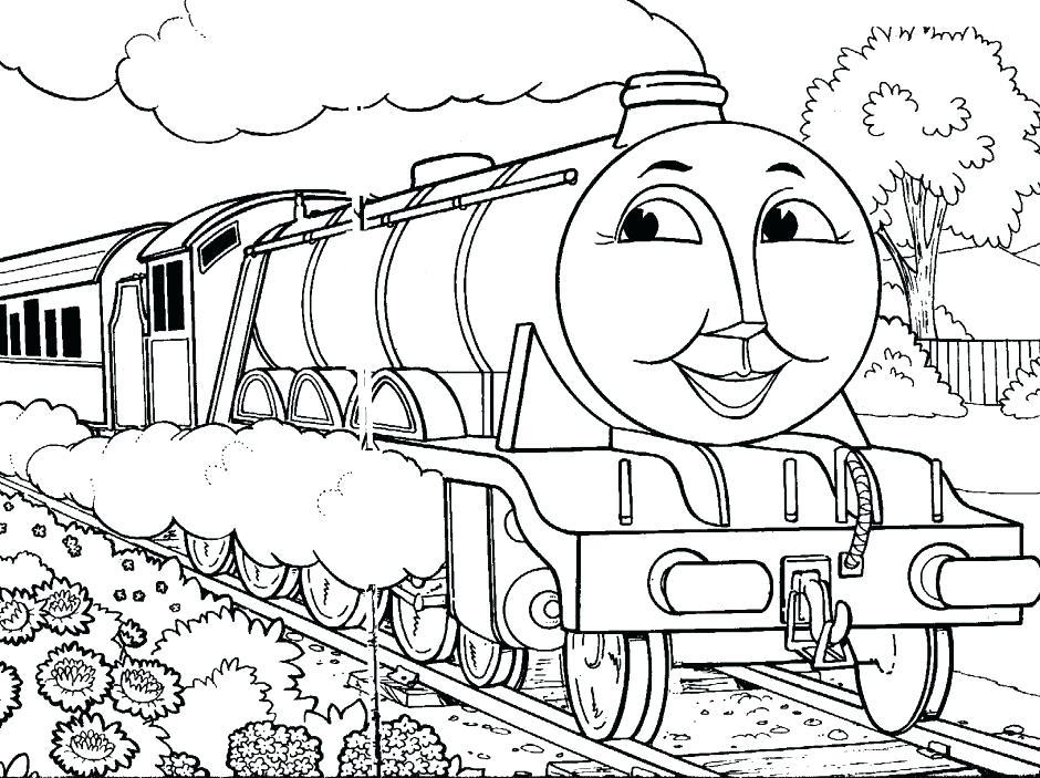 940x703 Train Coloring Sheet