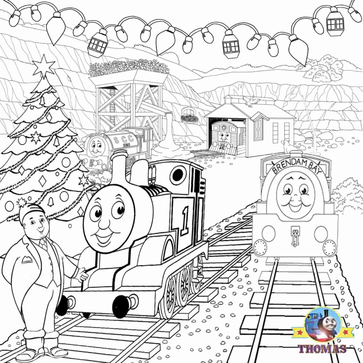 1200x1200 Christmas Train Coloring Pages Leversetdujourfo Thomas The Train