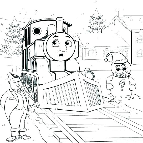 600x600 Christmas Train Coloring Pages S Thomas The Tank Engine Christmas