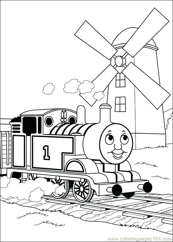 Thomas The Train Coloring Pages Pdf
