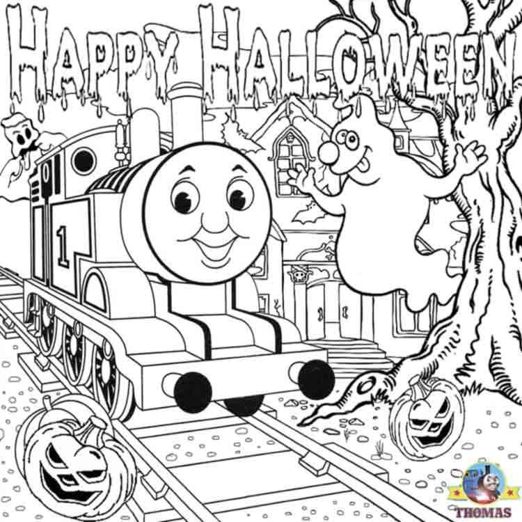 750x750 Thomas Halloween Coloring Sheets Halloween Party