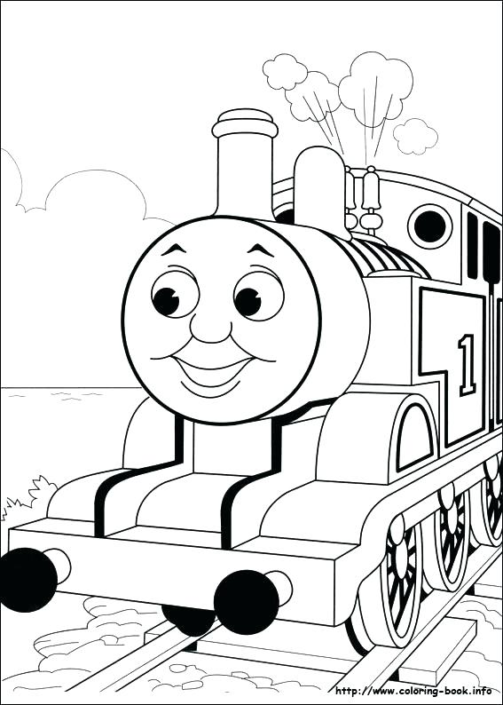567x794 Thomas The Tank Coloring Pages The Train Coloring Pages To Print