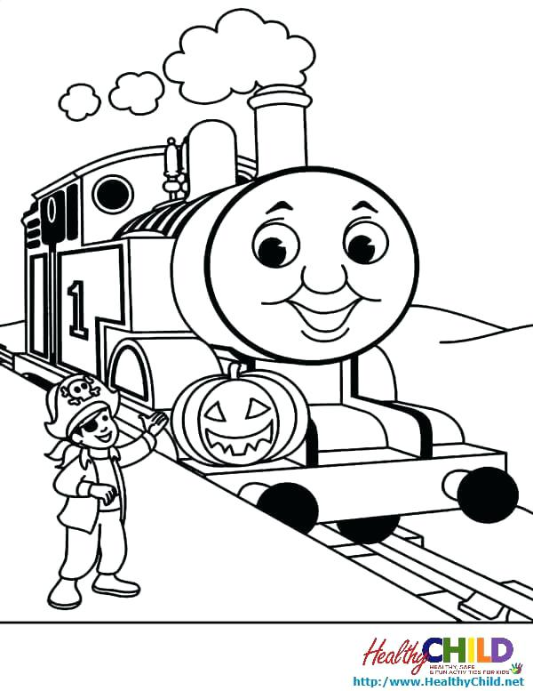 600x777 Thomas The Tank Engine Coloring Pages Birthday Train And Friends