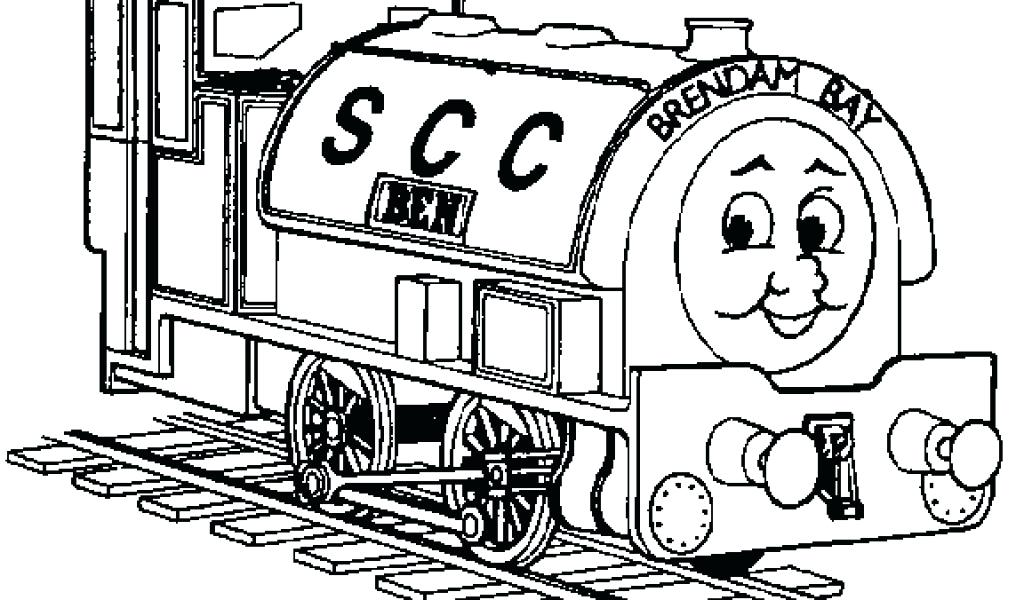 1024x600 Thomas The Tank Engine Easy Colouring Pages Train Coloring