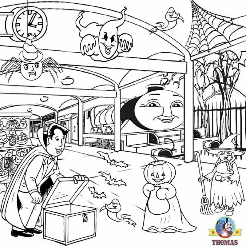 800x800 Free Kids Activities Halloween Coloring Pages To Print Haunted