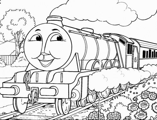500x385 Best Thomas The Train Images On Coloring Pages