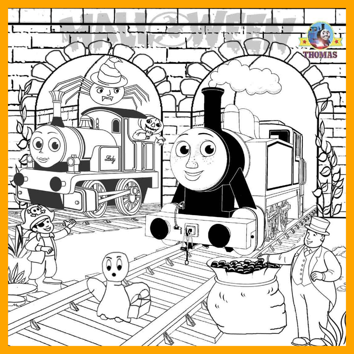 1152x1152 Stunning Thomas The Train Coloring Pages For Style And Engine
