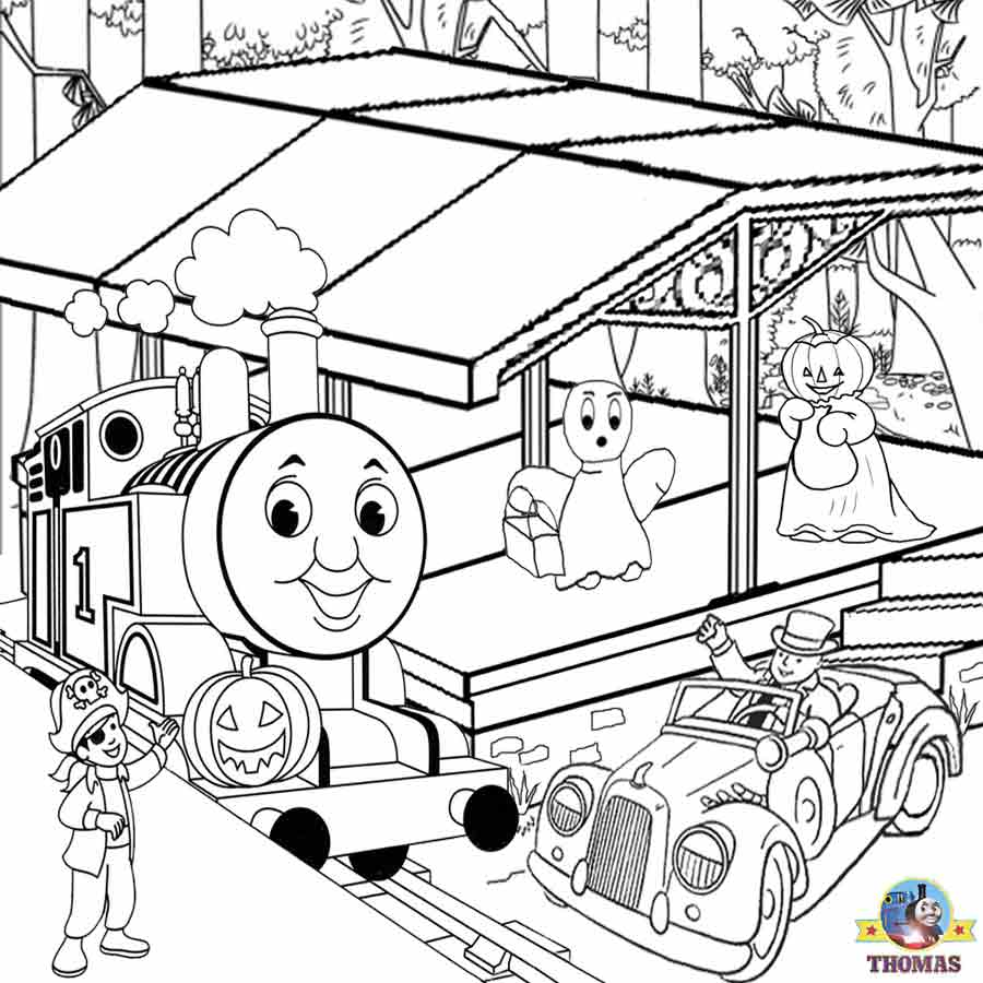 900x900 Thomas The Tank Engine Coloring Pages
