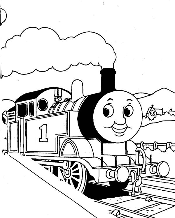 600x749 Thomas The Train Coloring Pages