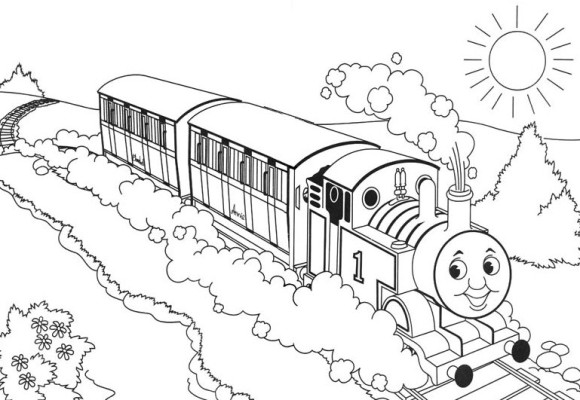 580x400 Coloring Page Thomas The Train, Thomas Train Coloring Pages