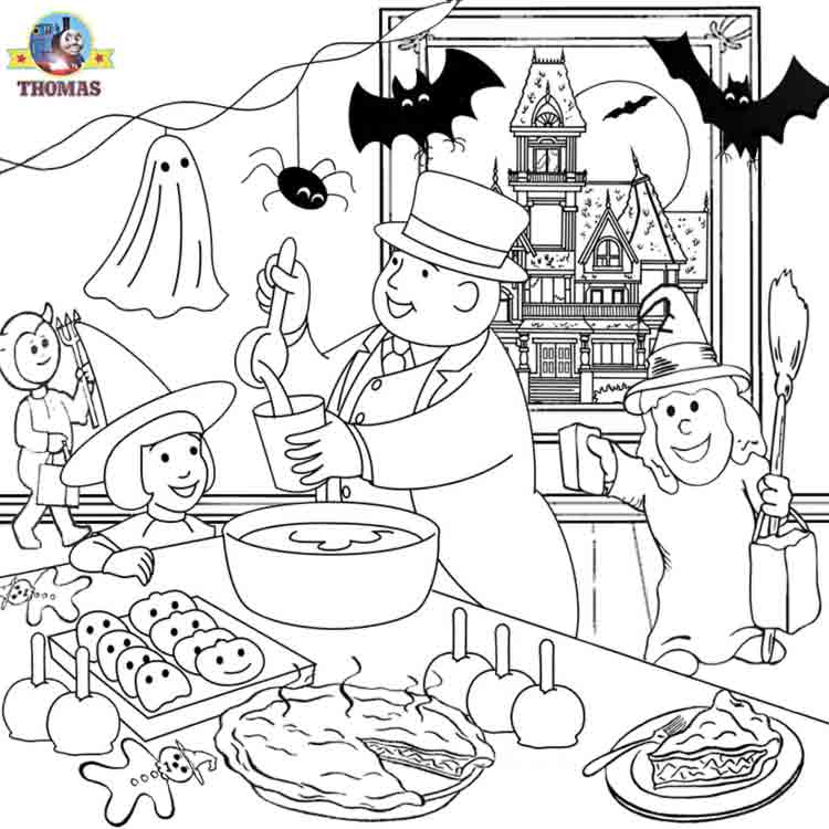 Thomas The Train Halloween Coloring Pages At Getdrawings Free Download