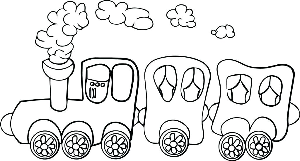 1024x548 Train Coloring Page Cartoon The Pages And Train Coloring Page