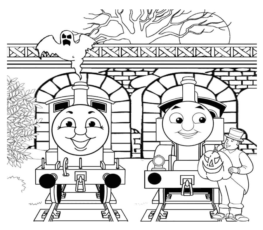 900x787 Two Person Chat With Thomas And Friends Coloring Page Coloring