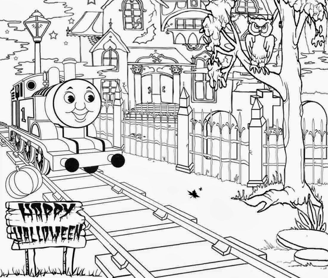 1100x934 Halloween Full Page Thomas The Train Coloring Pages