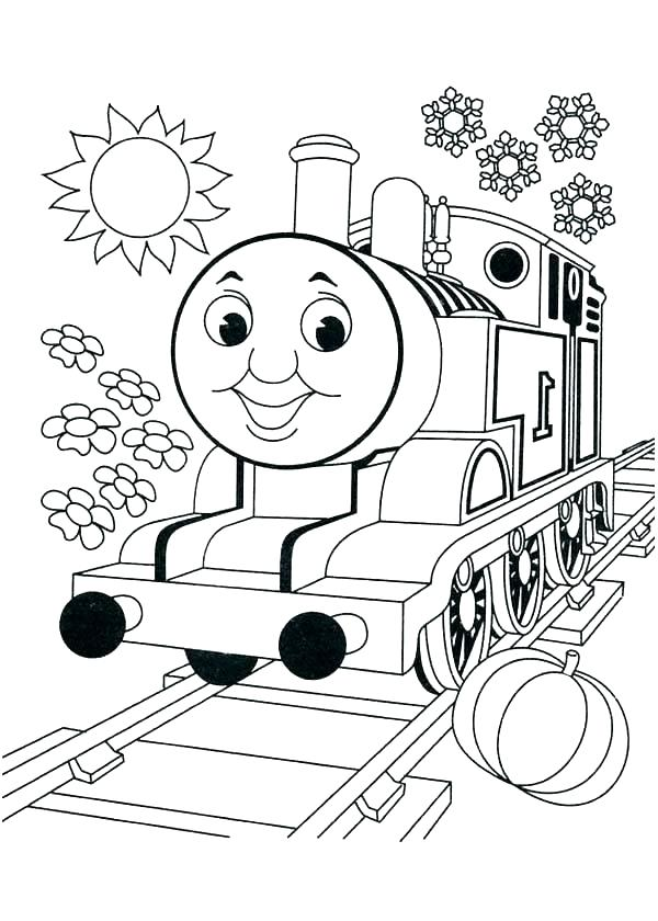 600x840 Train Printable Coloring Pages Color Train Book As Well As Train