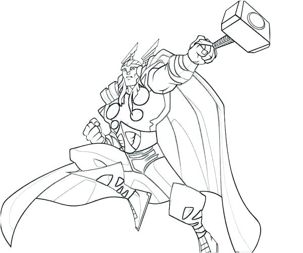 600x500 Thor Coloring Page Coloring Page Kids Coloring Pages Print Color